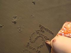 Very hot blonde chick in an orange bikini taking - XXXonXXX - Pic 12
