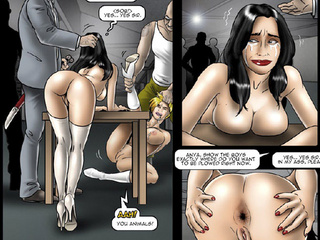 Blonde and brunette gals getting fucked - BDSM Art Collection - Pic 2