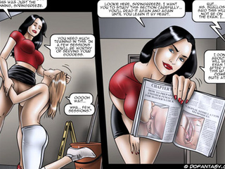 Bodacious brunette babe has got lots of - BDSM Art Collection - Pic 3
