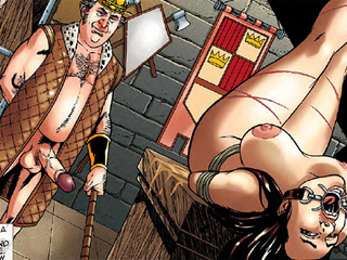 Awesome bdsm artwork with chic brunette - BDSM Art Collection - Pic 1