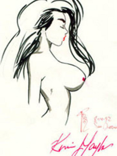 Magnificent sketches with wonderful busty vixens for - Picture 2
