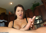 dirty brunette housewife playing