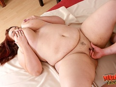 Busty red fatso getting banged hard in various ways - Picture 9