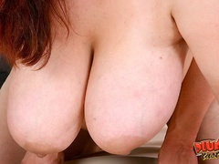 Busty red fatso getting banged hard in various ways - Picture 12