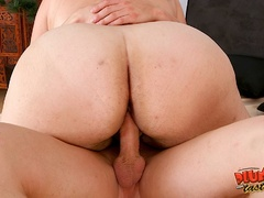 Busty red fatso getting banged hard in various ways - Picture 14