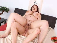 Busty red fatso getting banged hard in various ways - Picture 16