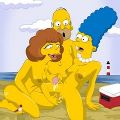 Famous heroes from Simpsons made a real orgy - Cartoon Sex - Picture 2