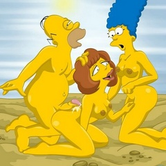 Famous heroes from Simpsons made a real orgy - Cartoon Sex - Picture 3
