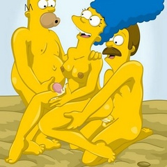 Hot Marge Simpson and her friend Maude - Cartoon Sex - Picture 1