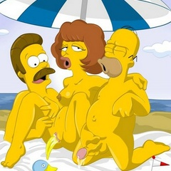 Hot Marge Simpson and her friend Maude - Cartoon Sex - Picture 3