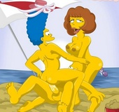 Hot Marge Simpson and her friend Maude Flanders…