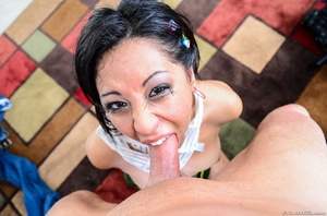 Slutty Asian chick gets her mouth filled with hot sperm after rude face fucking - XXXonXXX - Pic 12