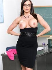 Lustful female teacher in glasses undresses in the - XXXonXXX - Pic 2