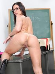 Lustful female teacher in glasses undresses in the - XXXonXXX - Pic 10