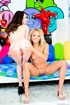 Two teen friends undress to present their fresh…