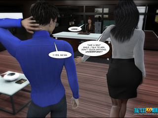 Cool 3d xxx toon with hot brunette trying to seduce - Picture 2