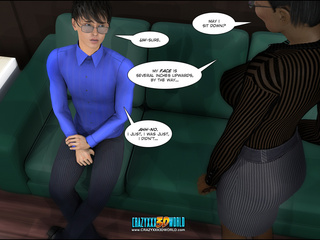 Dude in a blue shirt and glasses from 3d porn comix - Picture 2