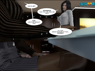 Cool 3d xxx toon with hot brunette trying to seduce - Picture 3