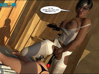 Dirty lezzy in stockings pounding her lover's - Cartoon Sex - Picture 3