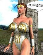 Hot 3d toon chicks from the ancient Rome adore war and dirty hard sex