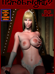 Busty red bitch in green suit and high - BDSM Art Collection - Pic 1