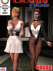 Busty red bitch in green suit and high - BDSM Art Collection - Pic 5