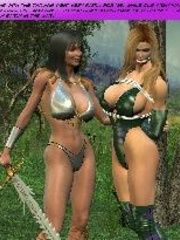Busty red bitch in green suit and high - BDSM Art Collection - Pic 7