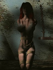 Poor enslaved chicks bound and - BDSM Art Collection - Pic 4