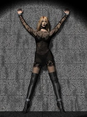 Hot blonde 3d chick struggling to - BDSM Art Collection - Pic 6