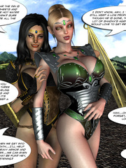 Nasty naked 3d toon chick struggling to - BDSM Art Collection - Pic 4