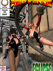Hot 3d toon girl bound to a bdsm device - BDSM Art Collection - Pic 8