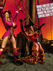 Horny pirate girl punishing her slave - BDSM Art Collection - Pic 8