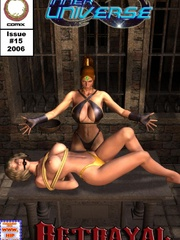 Hot blonde in yellow panties with a - BDSM Art Collection - Pic 5