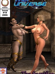 Hot blonde in yellow panties with a - BDSM Art Collection - Pic 6