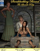 Poor brunette chick in boots gets tortured badly in a basement by her