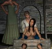 Poor brunette chick in boots gets tortured badly…