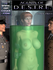 Two bald slave-girls joined with chains - BDSM Art Collection - Pic 1