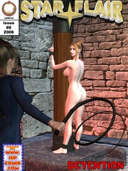 Hot bound girl waiting for her destiny - BDSM Art Collection - Pic 6
