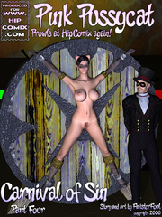 Hot naked chick in shackles and a mask - BDSM Art Collection - Pic 5