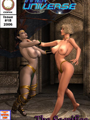 Busty 3d bitch fighting with chick to - BDSM Art Collection - Pic 5