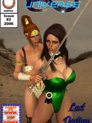 Busty 3d bitch fighting with chick to - BDSM Art Collection - Pic 6