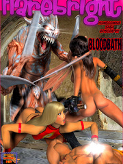 Two hot chicks with swords enslaved a - BDSM Art Collection - Pic 2