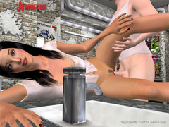 Poor 3d cartoon slaves get tortures - BDSM Art Collection - Pic 1