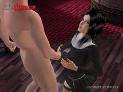 Enslaved brunette 3d girl gets banged - BDSM Art Collection - Pic 2