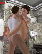 Pervert 3d mistress jeering her enslaved girl…