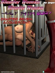 Busty brunette chick gets stretched on - BDSM Art Collection - Pic 8