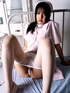 Slutty Japanese nurse undresses at her working…