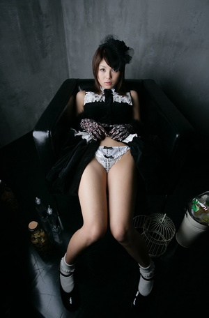 Naked Japanese girl having fun playing with food and beverages - XXXonXXX - Pic 2