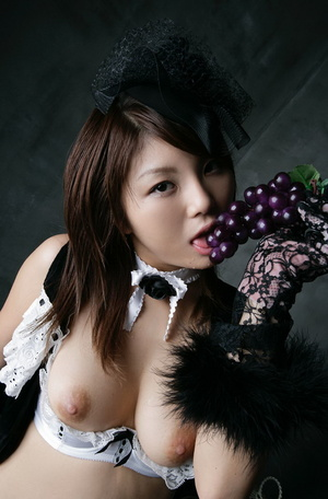 Naked Japanese girl having fun playing with food and beverages - XXXonXXX - Pic 6
