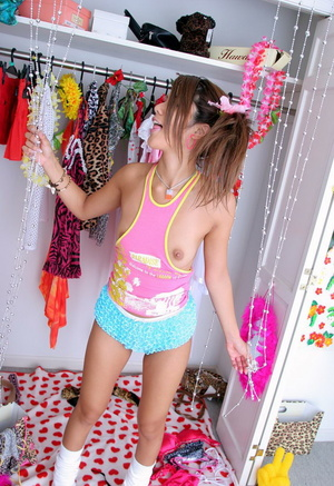 Sexy Asian teen girl posing on cam in funny lingerie - XXXonXXX - Pic 4